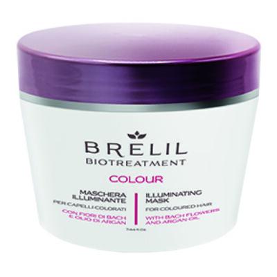 Brelil Biotreatement Colour Illuminating Mask 220 ml - Színvédő pakolás festett hajra