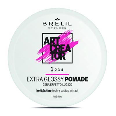 Brelil Art Creator Extra Glossy Pomádé  Könnyed tartást biztosító fényes wax